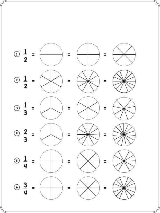 fraction circle worksheets ~ Brandonbrice.us