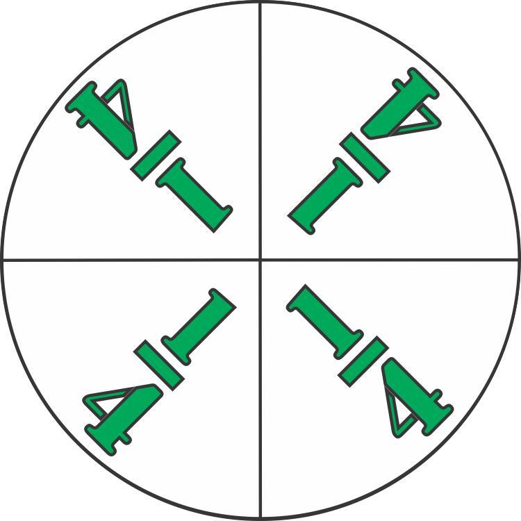 elementary school math fraction circle fourths